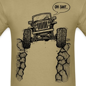 Jeep over Ravine - Men's T-Shirt