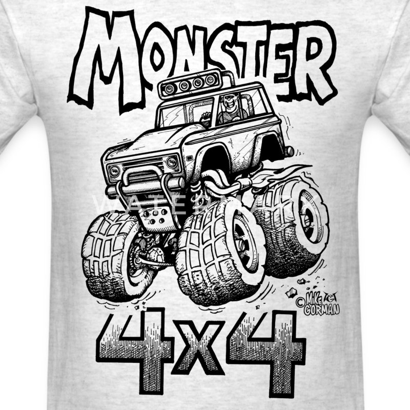 Monster Bronco 4x4 - Men's T-Shirt