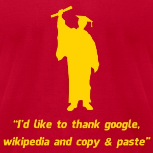 Internet Graduate Graduation thanks T-Shirts - Men's T-Shirt by American Apparel