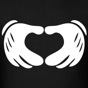 Mickey Hands - Heart T-Shirts - Men's T-Shirt