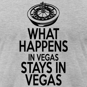 Keep Calm Vegas T-Shirts - Men's T-Shirt by American Apparel
