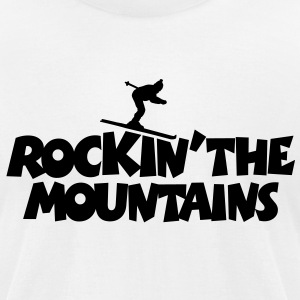 Ski T-Shirt Rockin' The Mountains - Men's T-Shirt by American Apparel