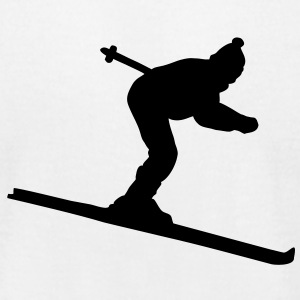 Skier T-Shirt - Men's T-Shirt by American Apparel