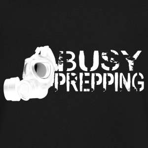 Busy Prepping Gas Mask - Men's V-Neck T-Shirt by Canvas