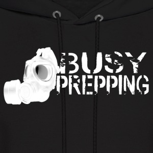 Busy Prepping Gas Mask - Men's Hoodie