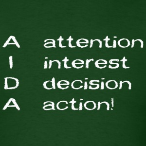 AIDA_AttentionInterestDecisionAction T-Shirts - Men's T-Shirt