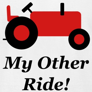 Red Tractor Other Ride T-Shirts - Men's T-Shirt by American Apparel