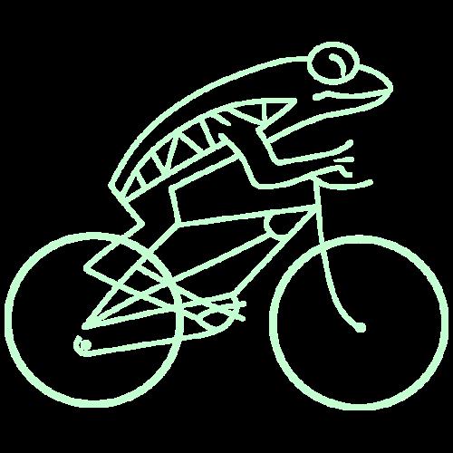 Frogbike - dark background