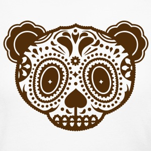 A panda bear head in the style of Sugar Skulls  Long Sleeve Shirts - Women's Long Sleeve Jersey T-Shirt