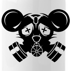 A gas mask with big mouse ears Accessories - Water Bottle