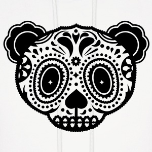 A panda bear head in the style of Sugar Skulls  Hoodies - Men's Hoodie