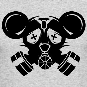 A gas mask with big mouse ears Long Sleeve Shirts - Men's Long Sleeve T-Shirt by Next Level