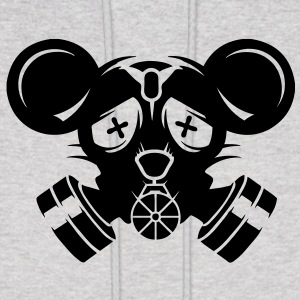 A gas mask with big mouse ears Hoodies - Men's Hoodie