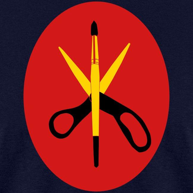 Scissors and Brush Gold