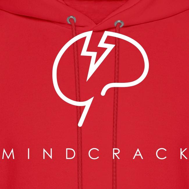 Men's white Mindcrack logo Hoody [Front]