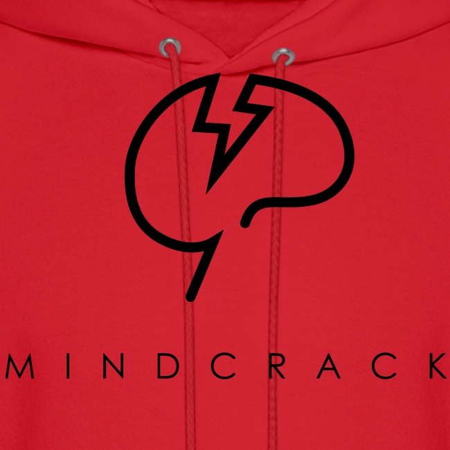 Men's black Mindcrack logo Hoody [Front]