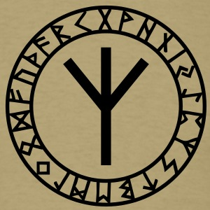 Algiz rune, rune of higher vibrations, Odin, Runes T-Shirts - Men's T-Shirt