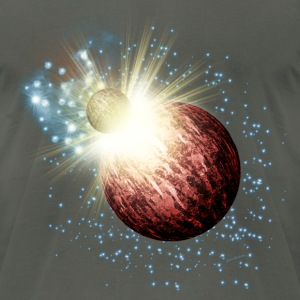 Planet Explosion T-Shirts - Men's T-Shirt by American Apparel