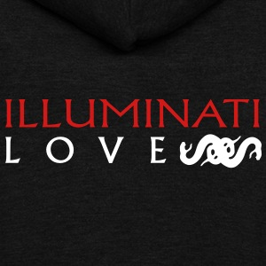 Illuminati Love Snake Zip Hoodies/Jackets - Unisex Fleece Zip Hoodie by American Apparel
