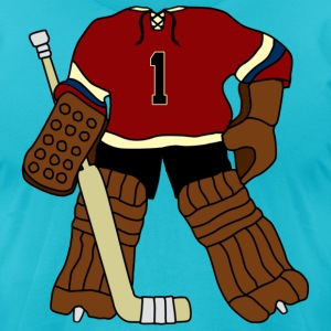 Vintage Hockey Goalie T-Shirts - Men's T-Shirt by American Apparel