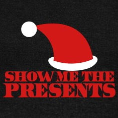 SHOW ME THE PRESENTS! Christmas santa hat funny Long Sleeve Shirts