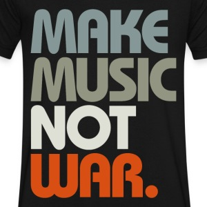 Make Music Not War (Retro) T-Shirts - Men's V-Neck T-Shirt by Canvas