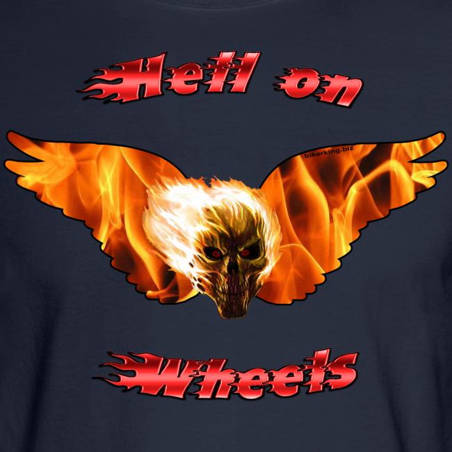 Men's LS Hanes T Hell on Wheels (Front)