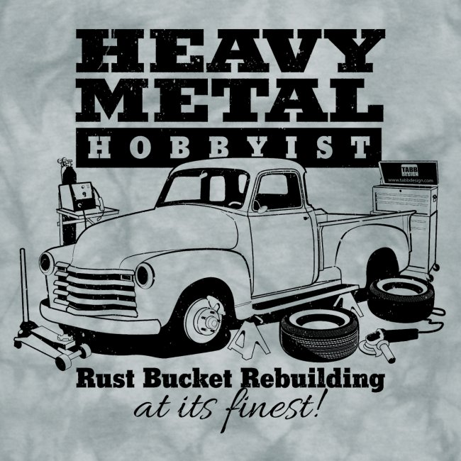 50s Heavy Metal Hobbyist Tee Black Graphic