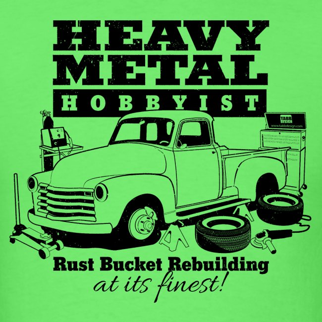 50s Heavy Metal Hobbyist Tee Black Graphic