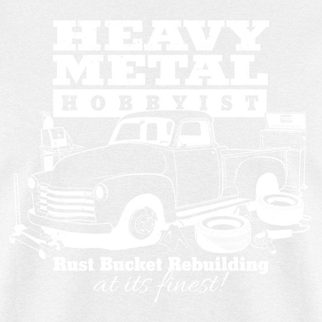 50s Heavy Metal Hobbyist Tee White Graphic