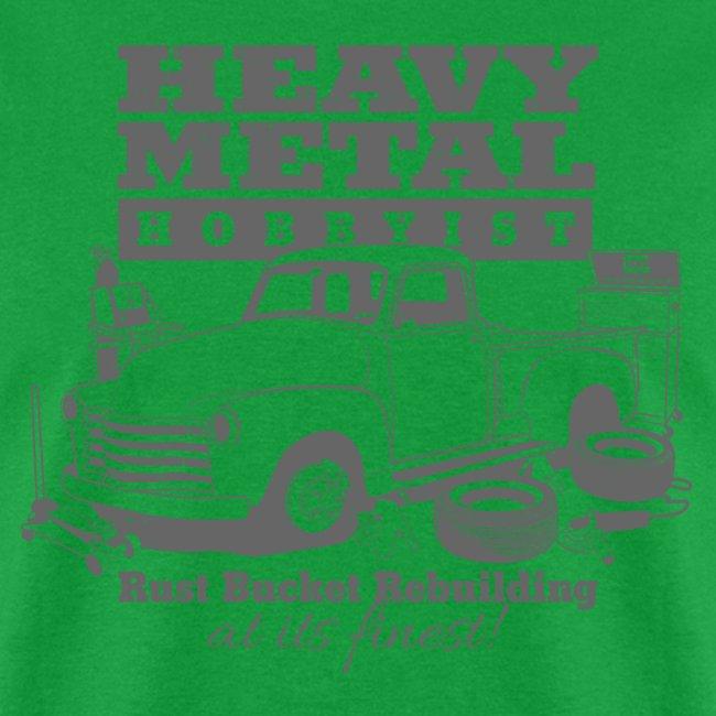 50s Heavy Metal Hobbyist Tee Gray Graphic