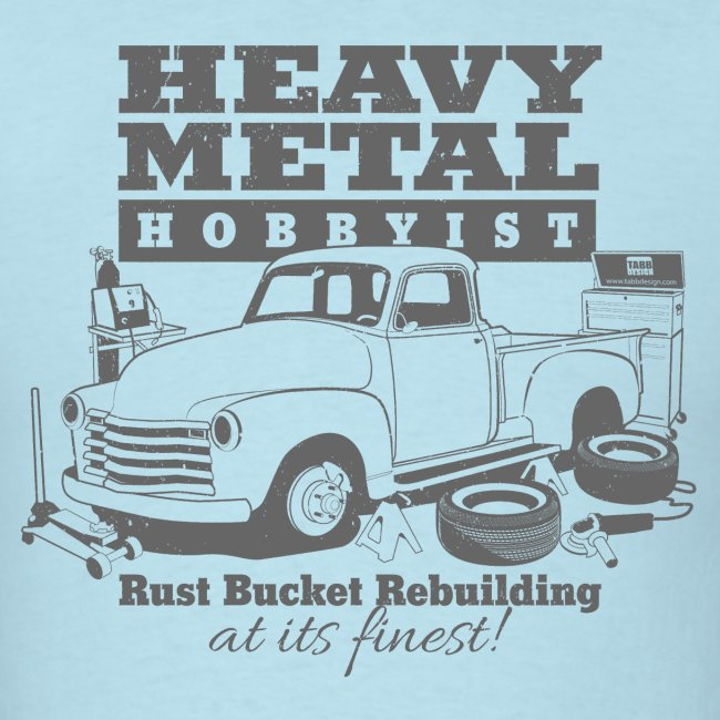 50s Heavy Metal Hobbyist Tee Gray Graphic