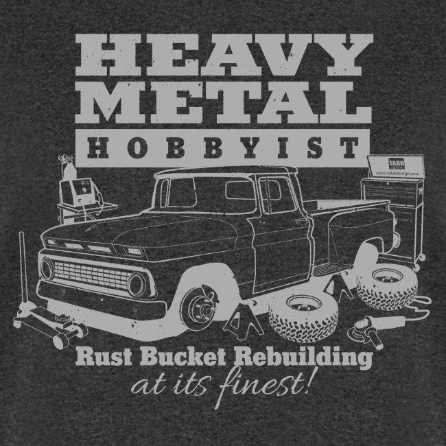 Heavy Metal Hobbyist Tee Gray Graphic