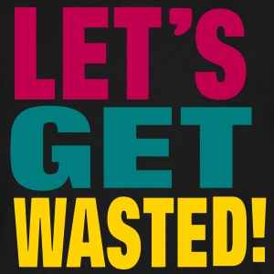 LET'S GET WASTED! T-Shirts - Men's V-Neck T-Shirt by Canvas