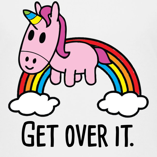 Get Over It Unicorn Kids Tee