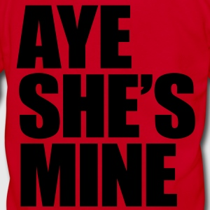 Aye She's Mine Zip Hoodies/Jackets - Unisex Fleece Zip Hoodie by American Apparel