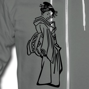 Geisha Zip Hoodies/Jackets - Unisex Fleece Zip Hoodie by American Apparel
