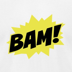 bam peng boom comic manga T-Shirts - Men's T-Shirt by American Apparel