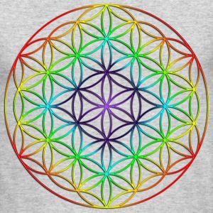 Flower of Life Rainbow Chakras - Men's Long Sleeve T-Shirt by Next Level