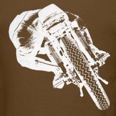 Vintage Cafe Racer T-shirt backside