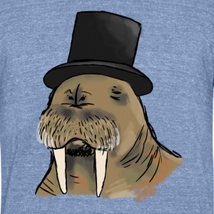 Walruses Have Class Too Vintage Tee - Unisex Tri-Blend T-Shirt
