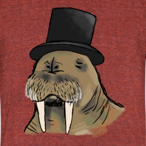 Walruses Have Class Too Vintage Tee - Unisex Tri-Blend T-Shirt by American Apparel