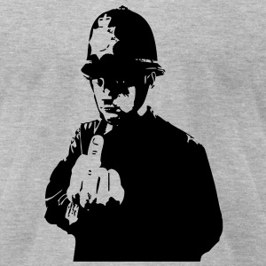 Angry Copper Flip - Banksy T-Shirts - Men's T-Shirt by American Apparel