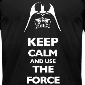 KCCO Keep Calm And Use The Force T-Shirts - Men's T-Shirt by American Apparel