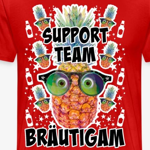16 JGA Support Team Bräutigam Ananas Brille Bier