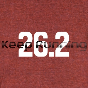Keep Running 26.2 - Unisex Tri-Blend T-Shirt by American Apparel