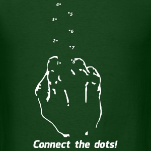Connect the Dots - Fuc$ You Middle Finger T-Shirts - Men's T-Shirt