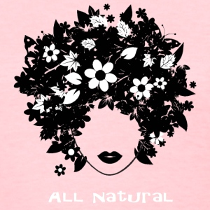 All Natural Hair T-Shirt (White lettering) Women's T-Shirts - Women's T-Shirt