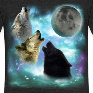 Wolves Misty Shine 02 resized T-Shirts - Unisex Tri-Blend T-Shirt