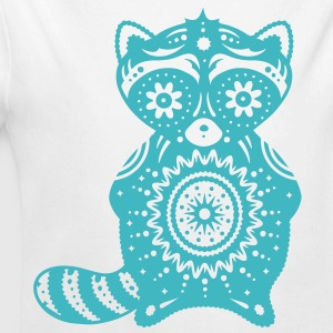 A raccoon in the style of Sugar Skulls Baby & Toddler Shirts - Long Sleeve Baby Bodysuit